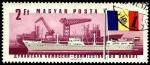 Sellos de Europa - Hungría -  Buque de carga Tihany y astillero Galati en Rumania.