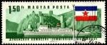 Stamps Hungary -  Remolcador diesel Szekszard y castillo Golubac en Yugoeslavia