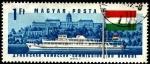 Sellos de Europa - Hungría -  Barco diesel de pasajeros Hunyadi y Castillo Buda Hungría.