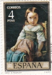 Stamps : Europe : Spain :  PINTURA -Nena (E.Rosales)   (G)