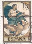 Sellos de Europa - España -  PINTURA -El Evangelista San Juan (E. Rosales)    (G)
