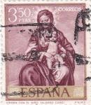 Stamps : Europe : Spain :  PINTURA -Virgen con el Niño (alonso Cano)    (G)