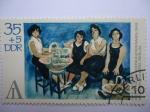 Stamps Germany -  Pintura de:Max Longner Galería Nacional de Berlín)