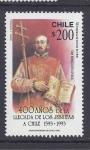 Stamps Chile -  400 años llegada de los jesuitas
