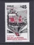 Stamps Chile -  dia de la marina mercante