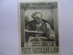 Stamps Vatican City -  pINTURA: Profeta  Joele - Capilla Sistina-)1564 Michelangelo 1964