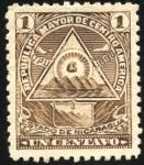 Sellos del Mundo : America : Nicaragua : Escudo antiguo de Nicaragua. UPU 1898.