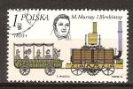 Sellos del Mundo : Europa : Polonia : Murray locomotora de vapor y Blenkinsop y transporte de 1810.