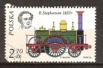Sellos del Mundo : Europa : Polonia : Robert Stephenson y su locomotora