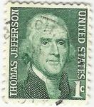 Stamps : America : United_States :  THOMAS JEFFERSON