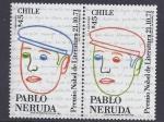 Stamps Chile -  Pablo Neruda