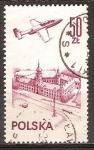 Sellos de Europa - Polonia -  PZL-Mielec TS-11 Iskra avión de entrenamiento sobre el castillo de Varsovia.