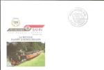 Sellos de Europa - Austria -  Sobre conmemorativo matasellado, 120 anivº del Tren de Achensee