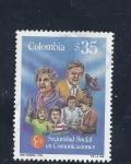 Stamps : America : Colombia :  seguridad social