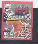 Stamps : America : Chile :  100 años de la seleccion chilena
