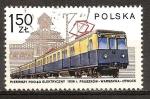 Sellos del Mundo : Europa : Polonia : Tren eléctrico y la estación de Otwock, 1936.