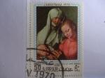 Stamps United Arab Emirates -  Pintura.-Ajmar- Madonna and child with St. Inne..Pintor:Albrecht Durer