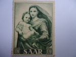 Sellos de Europa - Alemania -  Pintura- Alemania Saar (1954 -serie de tres valores)