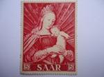 Stamps Germany -  Pintura.- Alemania Saar   (1954 -serie de tres vlores)