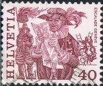 Sellos de Europa - Suiza -  SERIE BÁSICA 1977. COSTUMBRES POPULARES. L´ESCALADE, DE GINEBRA. Y&T Nº 1037