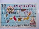 Stamps Spain -  ISLAS CANARIAS.-De la Carta de Mateo Prunes 1563.