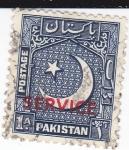 Stamps Pakistan -  Luna creciente-SERVICE