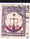 Sellos de Asia - Pakistán -  Balanza- SERVICE
