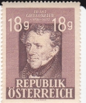 Stamps : Europe : Austria :  Franz Grillparzer 1791-1872 Dramaturgo austriaco