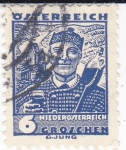 Stamps Austria -  Trajes regionales austriacos