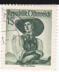 Stamps : Europe : Austria :  Trajes regionales austriacos- Tirol
