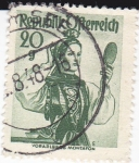 Stamps : Europe : Austria :  Trajes regionales austriacos