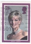 Sellos de Europa - Reino Unido -  Pricesa Lady Di  1961-1997