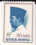 Stamps : Asia : Indonesia :  Presidente Sukarno 1901-1970 Lider Nacional