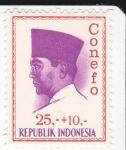 Sellos de Asia - Indonesia -  Presidente Sukarno 1901-1970 Lider Nacional -Conefo