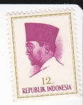 Sellos del Mundo : Asia : Indonesia : Presidente Sukarno 1901-1970 Lider Nacional