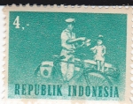 Stamps Indonesia -  cartero