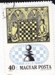 Sellos de Europa - Hungría -  Ilustración miniatura ajerez -Peon-