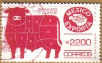 Stamps of the world : Mexico :  EXPORTA - GANADO Y CARNE Serie 13