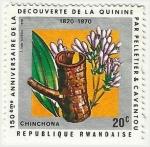 Stamps Africa - Rwanda -  150º ANIVERSARIO DEL DESCUBRIMIENTO DE LA QUININA