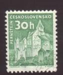 Stamps Czechoslovakia -  Pernstejn