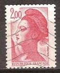 Sellos del Mundo : Europa : Francia : Liberty (Libertad de guiar al pueblo de Delacroix).
