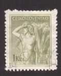 Sellos de Europa - Checoslovaquia -  agricultora