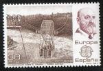Sellos de Europa - España -  2704- Europa-CEPT.  Leonardo Torres Quevedo y transbordador sobre el Niágara.