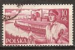 Sellos de Europa - Polonia -  Marina Mercante. Remolcadores y embarcaciones.