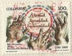 Sellos del Mundo : America : Colombia : BICENTENARIO DE LA REVOLUCION FRANCESA 1789 - 1989