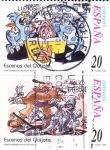 Sellos de Europa - España -  Escenas del Quijote-LLENÓSELE LA FANTASÍA y LE MOLIÓ COMO CIBERA    (H)