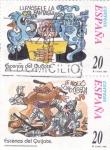 Stamps Spain -  Escenas del Quijote-LLENÓSELE LA FANTASÍA y LE MOLIÓ COMO CIBERA    (H)