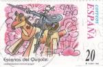 Sellos de Europa - Espa�a -  Escenas del Quijote-CLAVILE�O     (H)