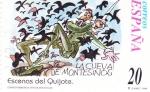 Stamps Spain -  Escenas del Quijote-LA CUEVA DE MONTESINOS     (H)