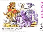 Sellos de Europa - España -  Escenas del Quijote- OH PRINCESA DEL TOBOSO    (H)